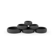 Ns Toys Renegade - Build-A-Cage Rings - Black péniszgyűrű