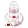 Nuk Baba tanulópohár NUK 150ml világos rózsaszín pillangó | Világos rózsaszín |