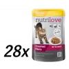 Nutrilove Cat pouch NMP, gravy chicken Macskaeledel - 28 x 85g