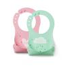 Nuvita Squashy szilikon előke - zöld & pink - 4370