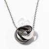 Nyaklánc összefonódó acél karikagyűrűkkel jwr-1039