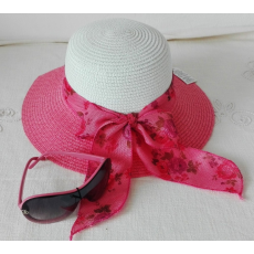Nyári Kalap-Rózsaszín, Fehér+Ajándék Napszemüveg!
