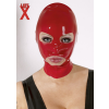 Nyitott latex maszk - piros
