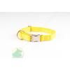 Nylon nyakörv 25 x 650 állítható nyakörv fém csattal sárga