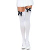 Nylon Stocking - WHITE/BLACK - O/S - HOSIERY