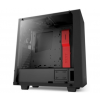 NZXT SOURCE 340 Elite Fekete/Piros Tempered Glass (CA-S340W-B4)