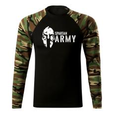 O&T Fit-T hosszú ujjú póló spartan army, woodland 160g/m2