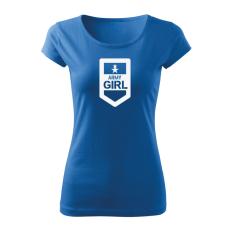 O&T női rövid ujjú trikó army girl, kék 150g/m2