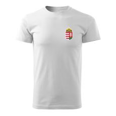O&T trikó kicsi magyar címerrel, fehér 160g/m2