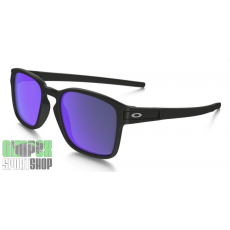 OAKLEY Latch Square Matte Black Violet Iridium Polarized