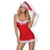 Obsessive Christmas Merrily - karácsonyi ruha és tanga (piros)