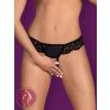 Obsessive Laluna crotchless panties black L/XL