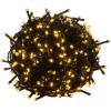OEM Karácsonyi LED világítás 60 m - meleg fehér 600 LED - zöld kábel