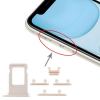 OEM Sim kártya tartó és oldalgomb garnitúra Iphone 11, fehér