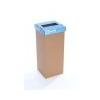 ÖKUKA Szelektív hulladékgyûjtõ, újrahasznosított, 60 l, RECOBIN Slim, kék
