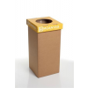 """ÖKUKA Szelektív hulladékgyűjtő, újrahasznosított, 20 l, RECOBIN """"Mini"""", sárga"""