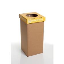"""ÖKUKA Szelektív hulladékgyűjtő, újrahasznosított, 20 l, RECOBIN """"Mini"""", sárga szemetes"""