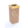 """ÖKUKA Szelektív hulladékgyűjtő, újrahasznosított, angol felirat, 60 l, RECOBIN """"Slim"""", sárga"""