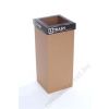 ÖKUKA Szelektív hulladékgyűjtő, újrahasznosított, angol felirat, 60 l, RECOBIN Slim, fekete (URE019)