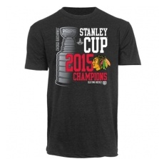 Old Time Hockey Chicago Blackhawks Póló 2015 Stanley Cup Champions Girard Bi-Blend - S