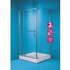 OLSEN Spa Valencia szögletes zuhanykabin+tálca 90x90, króm keret, sima üveg