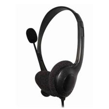 Omega Mikrofonos Fejhallgató Omega FIS1020 sztereo Fekete fülhallgató, fejhallgató