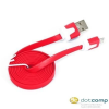 Omega USB - micro USB adatkábel piros 1m /OUAMCR/