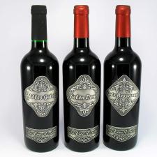 Óncímkés bor Német felirattal Vielen Dank pezsgős pohár