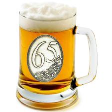 Óncímkés sörös korsó 65, 70, 80 éves (2.) sörös pohár