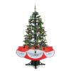 oneConcept Everwhite műfenyő, karácsonyfa, 180 cm, hóhullás hatás, LED, piros