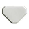 . Önkiszolgáló tálca, háromszögletű, műanyag, éttermi, fehér-mákos, 47,5x34 cm