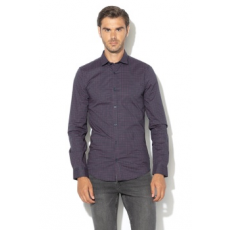 Only & sons , Alfredo mintás extra slim fit ing, Sötétkék/Lila, S (22010504-BLUE-NIGHTS-S)