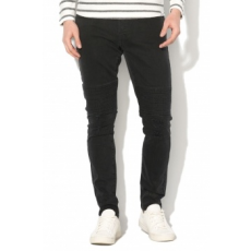Only & sons , SPUN Slim Fit motoros farmernadrág, Fekete, W28-L32 (22009069-BLACK-DENIM-W28-L32)