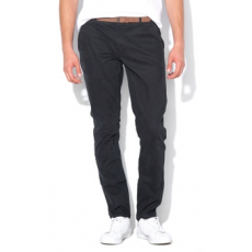 Only & sons , Tarp chino nadrág övvel, Fekete, W32-L34 (22011202-BLACK-W32-L34)