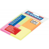 Öntapadó jegyzettömb, 38x51 mm, 4x50 lap, DONAU, vegyes szín 200 lapos