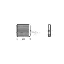 Opel Astra G 1997.09.01-2003.08.31 Fűtőradiátor (Behr tip.) (0L71) fűtőradiátor