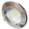 Optonica LED panel , mélysugárzó , 30 W , süllyesztett , kerek , meleg fehér , inox keret