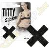 Orion Titty Sticker csillogó mellbimbó matrica - X - fekete