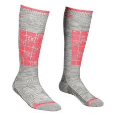 Ortovox Női zokni Ortovox W's Ski Compression Socdb Szín: szürke/rózsaszín / Zokni mérete: 35-38