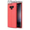 OTT! MOBILE OTT! LEATHER SERIES szilikon védő tok / bőrhatású hátlap - PIROS - ERŐS VÉDELEM! - SAMSUNG Galaxy Note9