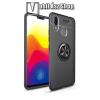 OTT! MOBILE OTT! METAL RING szilikon védő tok / hátlap - FEKETE - fém ujjgyűrű, tapadófelület mágneses autós tartóhoz, ERŐS VÉDELEM! - Xiaomi Mi Max 3