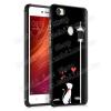 OTT! MOBILE OTT! SHOCKPROOF szilikon védõ tok / hátlap - FEKETE - CICA / SZÍV MINTÁS - ERÕS VÉDELEM! - Xiaomi Redmi Note 5A Prime / Xiaomi Redmi Y1