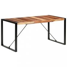 Paliszander felületű tömör fa étkezőasztal 160 x 80 x 75 cm bútor