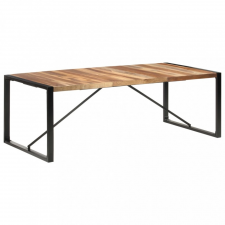 Paliszander felületű tömör fa étkezőasztal 220 x 100 x 75 cm bútor