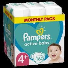 Pampers Active Baby Pelenka, 4+-es méret, 164 db, 10kg-15kg pelenka