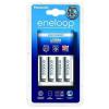 Panasonic Eneloop 4db AAA 750mAh akku + CC51 alap töltő
