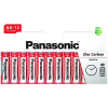 Panasonic Red Zinc AA ceruza 1.5V cink-mangán tartós elem 12db/csomag R6RZ