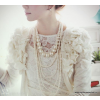 pandoraajandek.hu Elegáns fehér gyöngyös nyaklánc