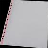 PANTA PLAST Genotherm, lefűzhető, színes szélű, fényes felületű,  A4, 40 mikron, PANTA PLAST, piros