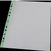 PANTA PLAST Genotherm, lefűzhető, színes szélű, fényes felületű,  A4, 40 mikron, PANTA PLAST, zöld